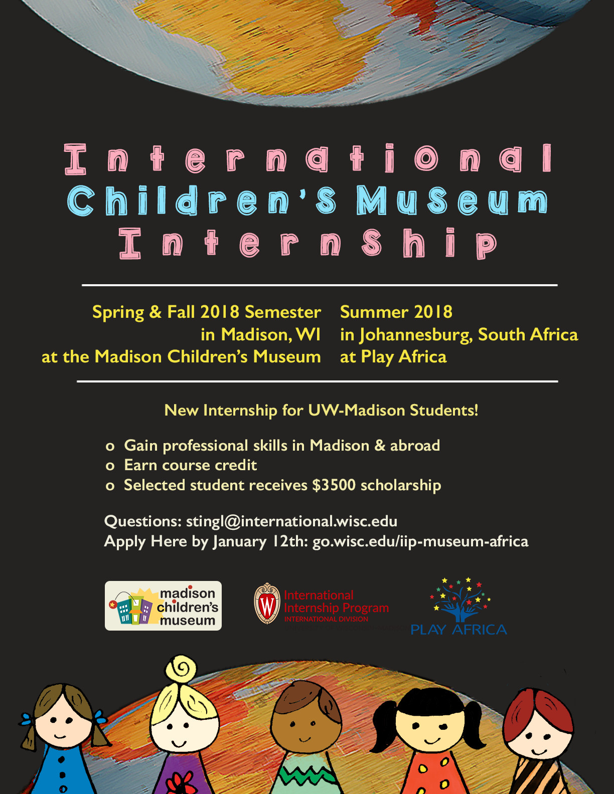 New International Children's Museum Internship in Madison